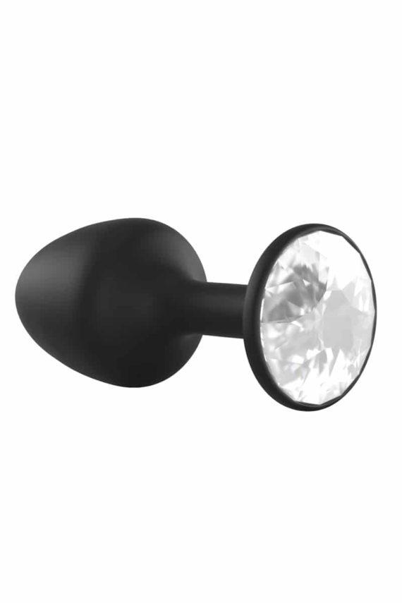 Plug Anal Bijou Geisha Diamond M - Noir & Blanc